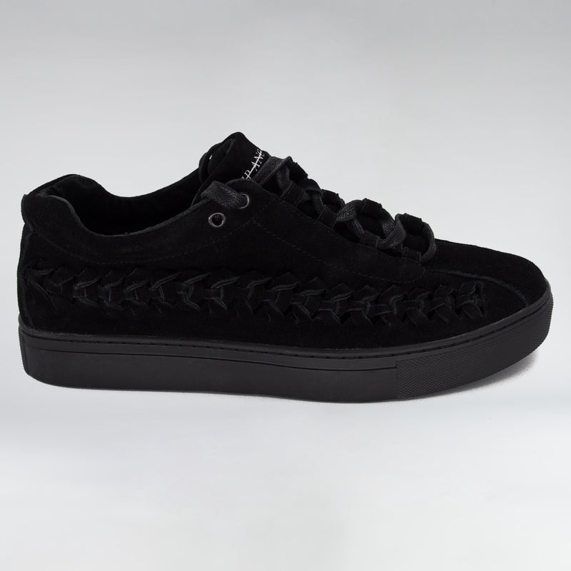 SUEDE WIRE RUNNER - TRIPLE BLACK SUEDE - HIP AND BONE
