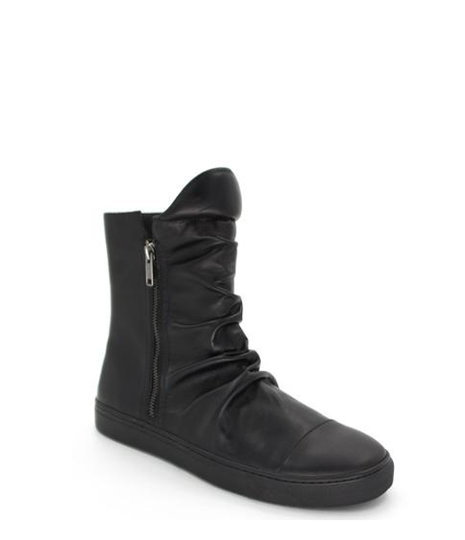 SHADOW LEATHER BOOT BLACK ON BLACK