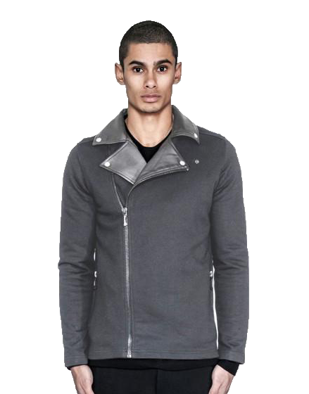 BIKER CARDIGAN / CHARCOAL | outerwear | HIP AND BONE