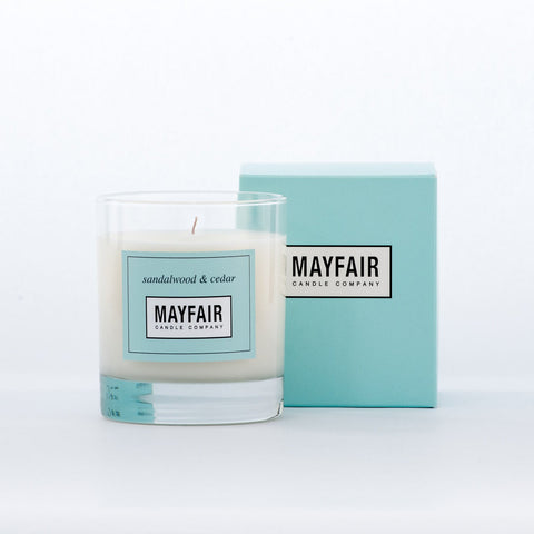 Sandalwood & Cedar 1-Wick 200g Candle - Mayfair Candle Company