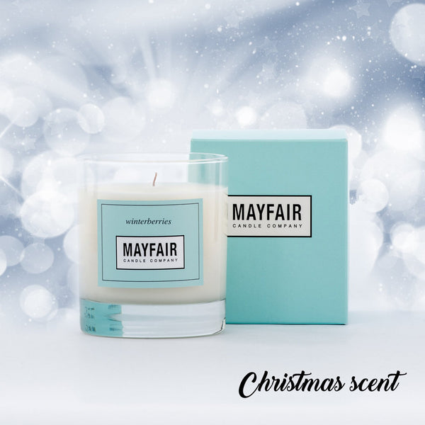 Winterberries 1-Wick 200g Candle, 1-Wick Candle, Mayfair Candle Company- Mayfair Candle Company