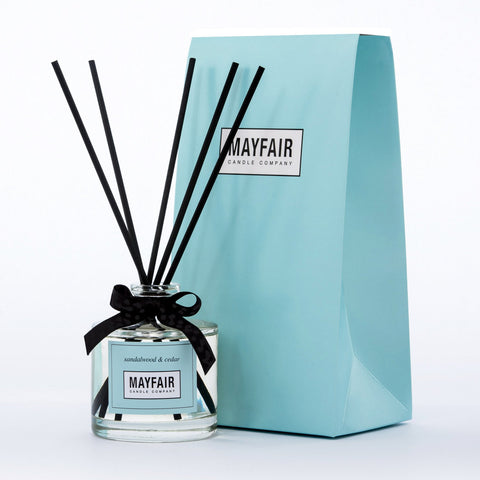 Sandalwood & Cedar Reed Diffuser 200ml, Diffuser, Mayfair Candle Company- Mayfair Candle Company