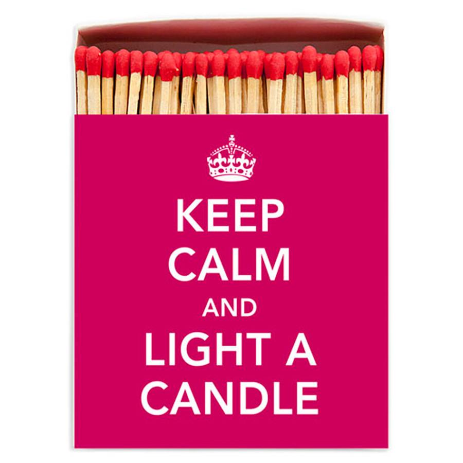 Keep Calm Matches - Mayfair Candle Company