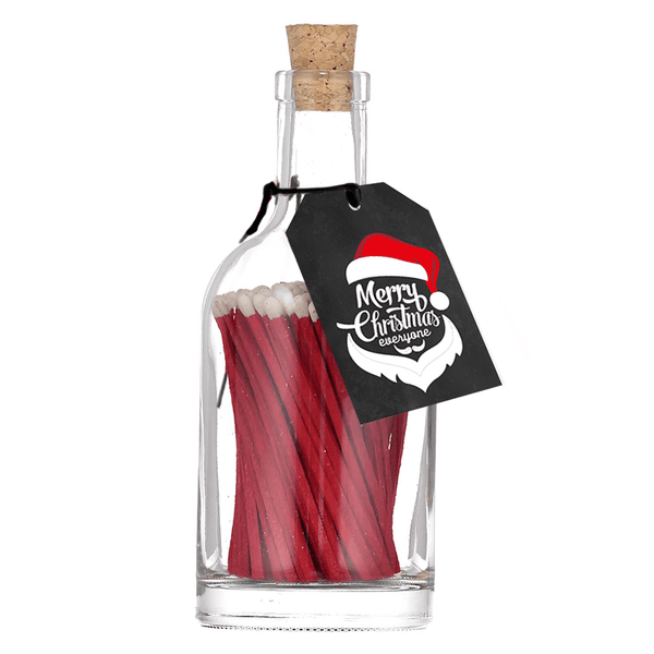 Red Matches In A Bottle 'Santa'