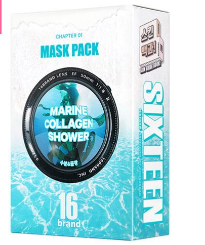 [16Brand] Marine Collagen Shower Mask Pack (10pc)