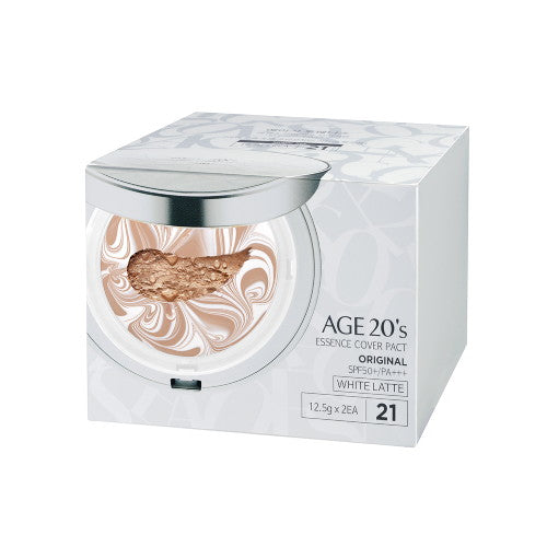 [age20] [Age 20's] Essence Cover Pact White Latte #21 + Refill