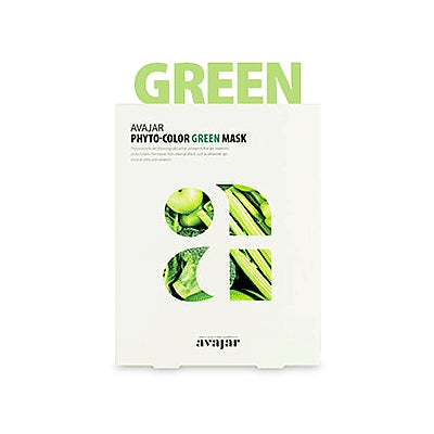 [Avajar] PHYTO-COLOR GREEN MASK 10EA