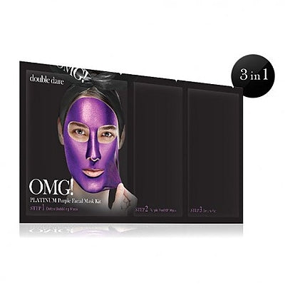 [double dare] OMG! Platinum Purple Facial Mask Kit 1ea