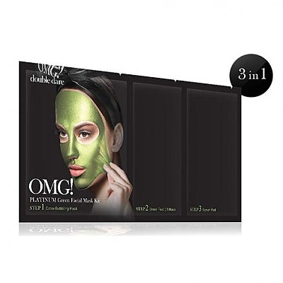 [double dare] OMG! Platinum Green Facial Mask Kit 1ea