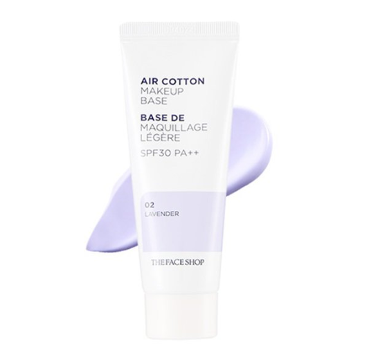 [THEFACESHOP] Air Cotton Make Up Base 02 Lavender SPF30 PA++