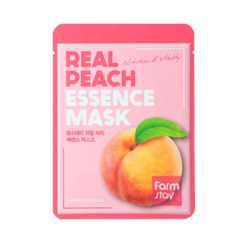 [Farm stay] (1EA) REAL PEACH ESSENCE MASK