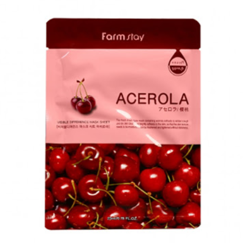 [Farm stay] (1EA) VISIBLE DIFFERENCE MASK SHEET ACEROLA
