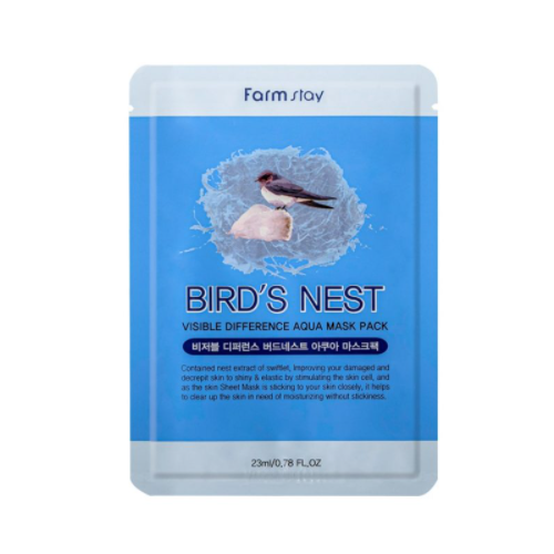 [Farm stay] (1EA) VISIBLE DIFFERENCE BIRDS NEST AQUA MASK PACK