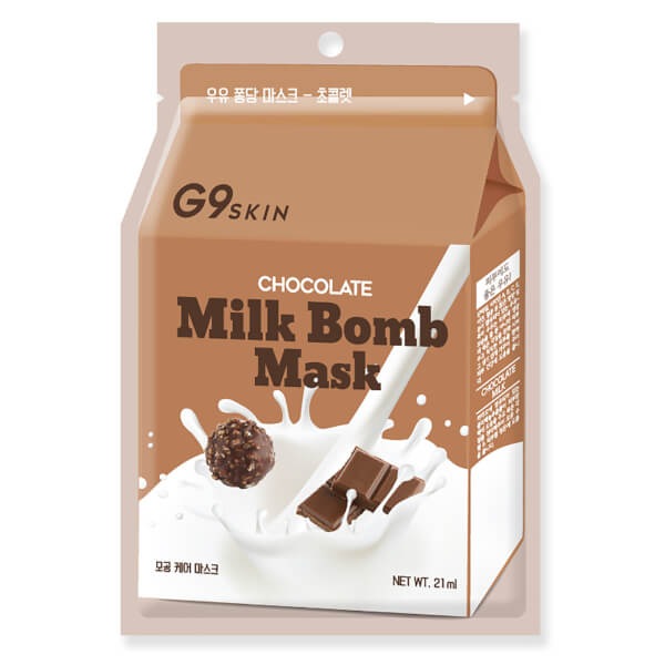 [G9] [5ea]MILK BOMB MASK-CHOCOLATE (1box-5pcs)
