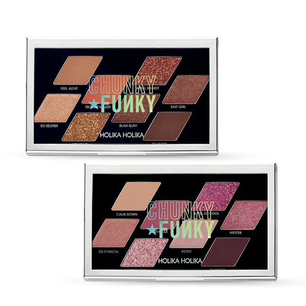 [Holika Holika] Chunky Metal Shadow Palette 01. Feel So Hot