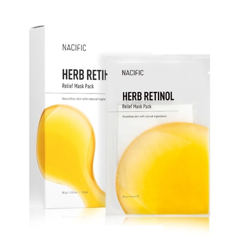 [NACIFIC] Herb Retinol Relief Mask Pack 10ea 300g