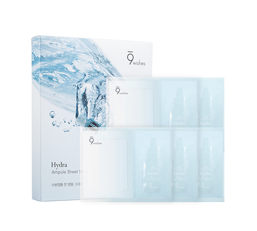 [9Wishes] Hydra Ampule Sheet Mask 5EA