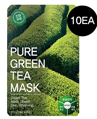 [TOSOWOONG] [TOSOWOONG] Pure Green Tea Mask 10pcs