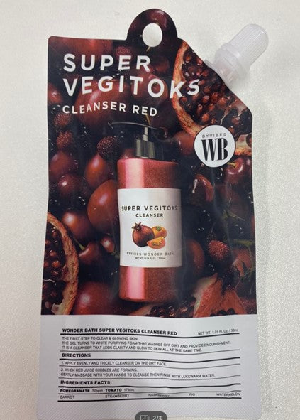 [WonderBath] Super vegitoks cleaner Red pouch