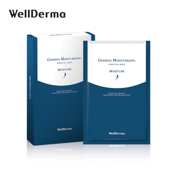 [WellDerma] [10ea]Ginseng Moisturizing Essential Mask