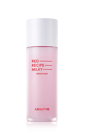 [About me] RED RECIPE CLEANSING MILKY Cream Skin