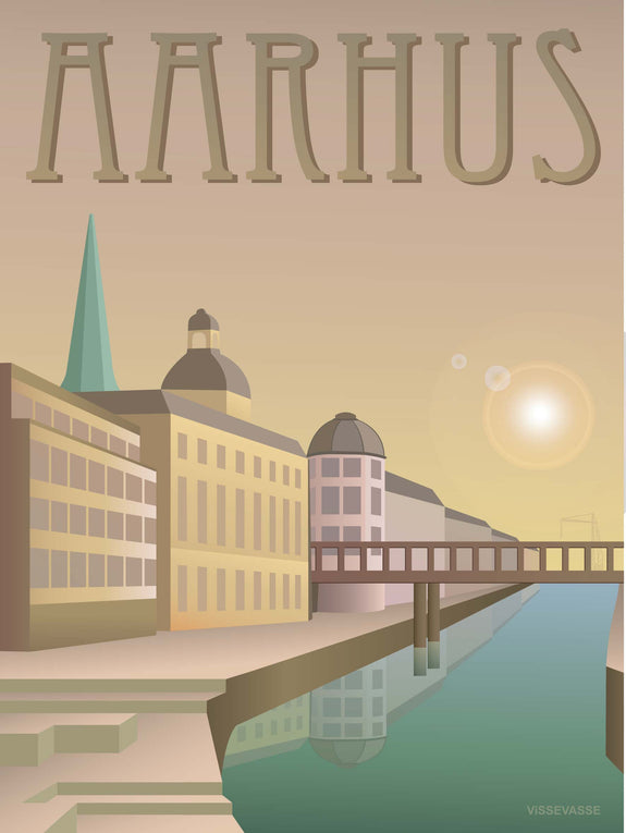 Aarhus poster from ViSSEVASSE with the creek