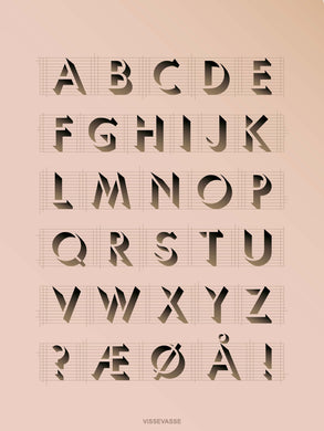 ABC poster from vissevasse with the alphabet