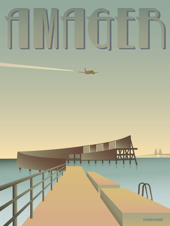 Poster from ViSSEVASSE with wooden pier