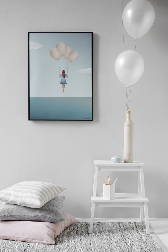 Balloon dream poster from ViSSEVASSE with girl and balloons