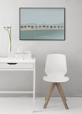 beach hut coastline poster from ViSSEVASSE