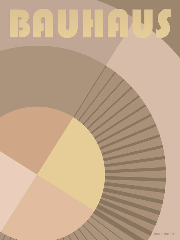 Bauhaus Circle Poster from vissevasse with Bauhaus shapes