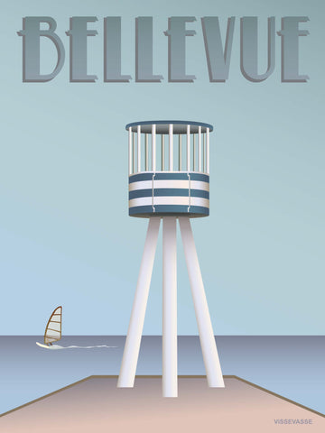 BELLEVUE Lifeguard Tower - poster