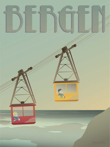 BERGEN Cable Cars - poster