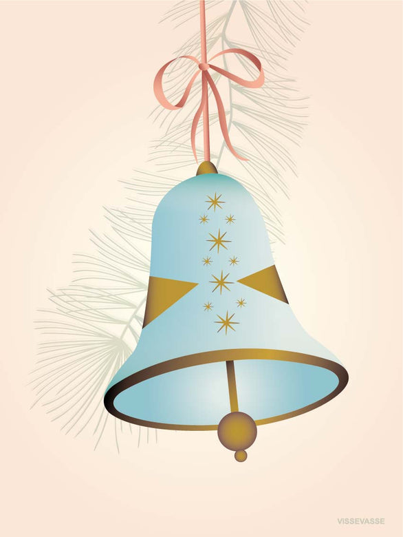CHRISTMAS BELL blue - Greeting Card