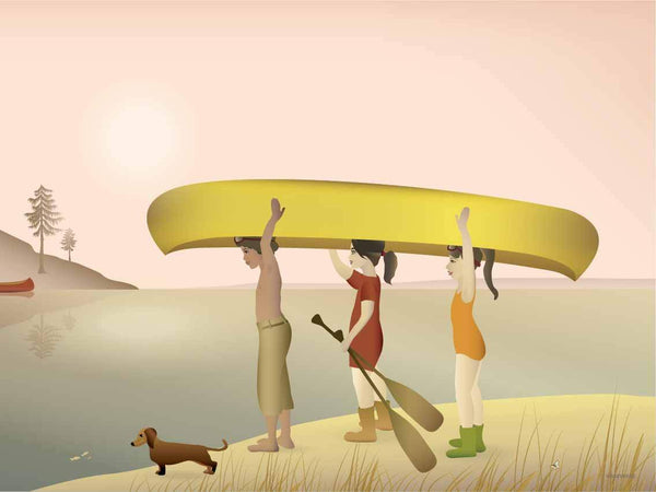 Canoe - a poster from ViSSEVASSE Design and Paper Studio