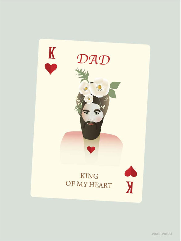 Dad king of my heart greeting card from Vissevasse