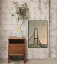 Denmark poster from ViSSEVASSE with the great belt bridge