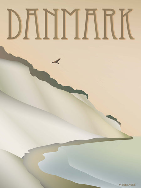 Denmark poster from ViSSEVASSE with the cliff