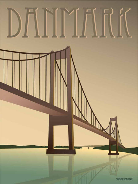 Denmark poster from ViSSEVASSE with the bridge