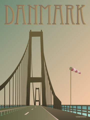DENMARK The Great Belt Bridge - poster