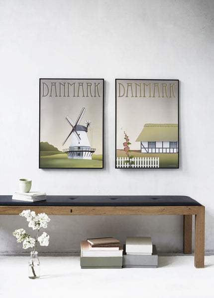 Poster pair from ViSSEVASSE with Denmark posters