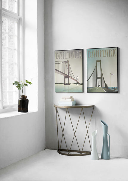 Poster pair from ViSSEVASSE with the two bridges