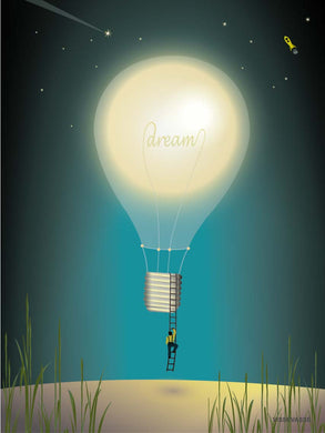 Dreaming poster from ViSSEVASSE with air balloon