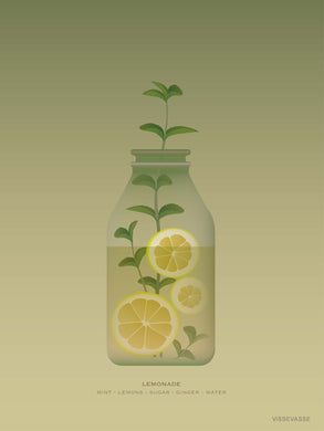 Lemonade poster from ViSSEVASSE for the kitchen