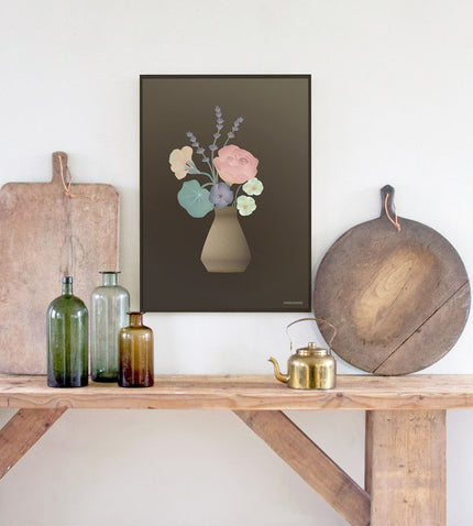 Edible flower poster from ViSSEVASSE