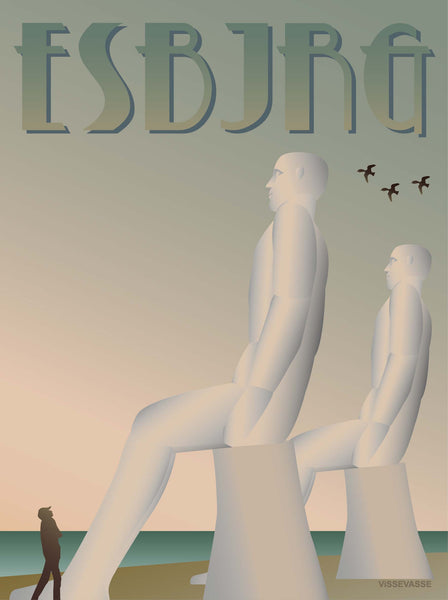Esbjerg poster from ViSSEVASSE with the white men