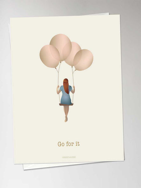 GO FOR IT balloon dream - greeting card