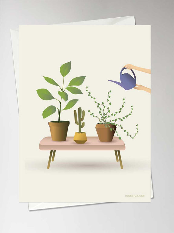 GROWING PLANTS - Greeting Card