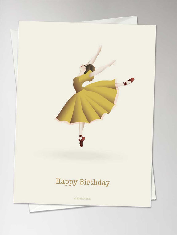Happy Birthday - ballerina