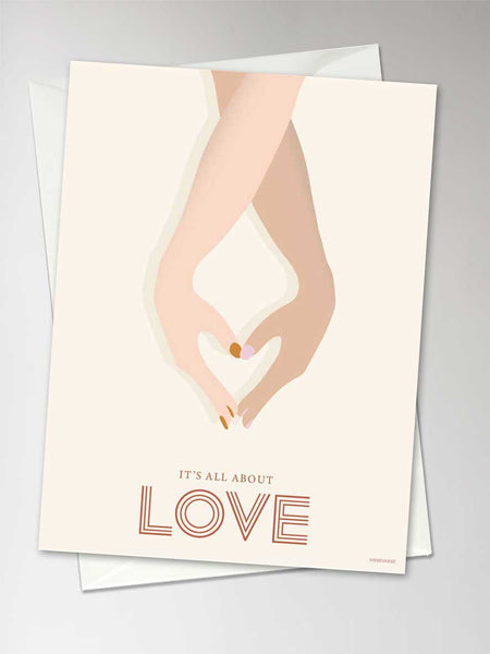 IT'S ALL ABOUT LOVE - greeting card
